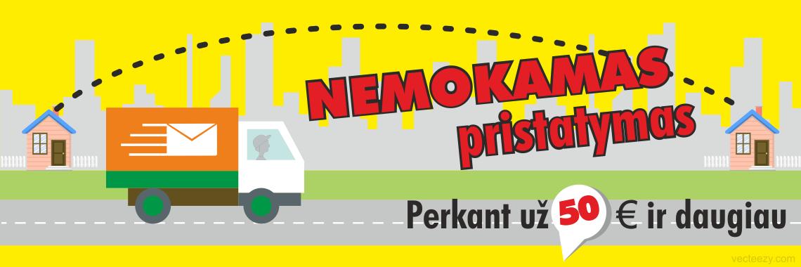 NEMOKAMAS PRISTATYMAS