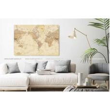 Kelionių žemėlapis. 100x70 cm