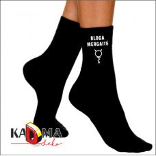 """Moteriškos kojinės """"Bloga mergaitė"""""""