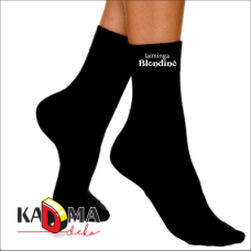 """Moteriškos kojinės """"Laiminga BLONDINĖ"""