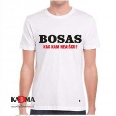 """Marškinėliai  """"Bosas. Kas kam neaišku"""""""