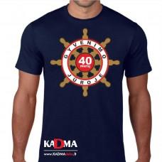 """Marškinėliai  """"40 metų gyvenimo jūroje"""""""