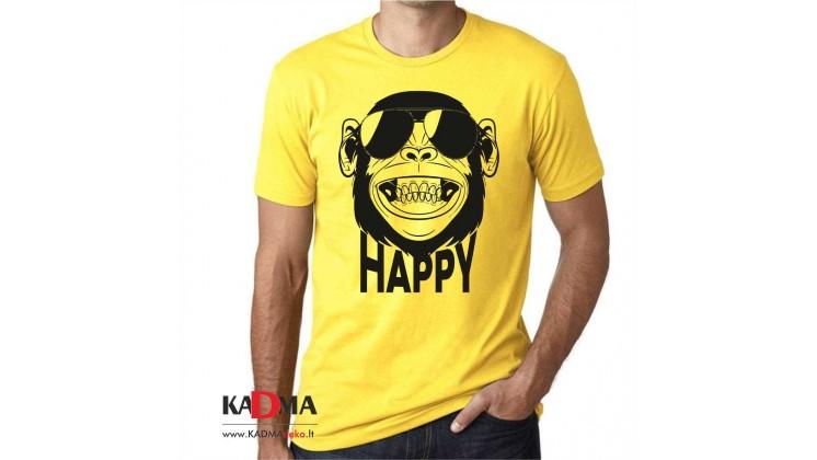 """Marškinėliai  """"HAPPY"""""""