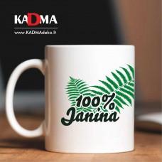 """Puodelis """"100% Janina"""""""