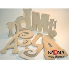 Iškilios medinės raidės
